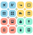 set simple distribution vector image vector image