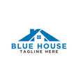 simple blue house logo design template vector image vector image