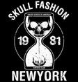 skull poster tee graphic design vector image