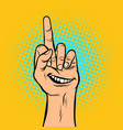 smile joy emotion you hand gesture vector image vector image