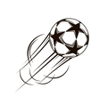 Soccer ball with stars flying through the air vector image vector image