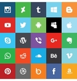 Social media flat icons vector image