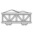 Train cargo wagon icon outline style vector image vector image