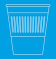 trash basket icon outline style vector image vector image