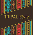 tribal style design in brown colors vector image vector image