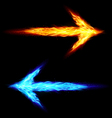 Two fire arrows vector image vector image