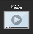 video player icon design vector image vector image