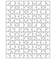 white puzzle 5 vector image vector image
