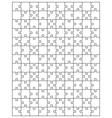 white puzzle 5 vector image
