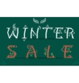 Winter Sale Card for retail vector image vector image