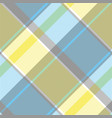 yellow blue gray pixel plaid seamless pattern vector image vector image