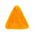 yellow crayon scribble texture stain triangle vector image vector image