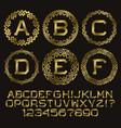 golden angular monogram kit gold letters and vector image