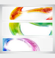 abstract colorful vecter header set vector image