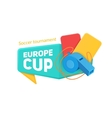 Europe soccer cup badge vector image
