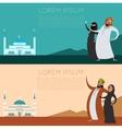 Set of Muslim banner2 vector image