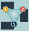 1 2 3 4 flat options vector image