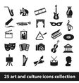 25 art and culture icon collection vector image vector image