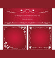 a set of message frames for valentines day vector image vector image