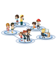 A social network vector image