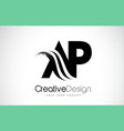 ar a r creative brush black letters design with vector image vector image