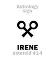 astrology asteroid irene vector image vector image