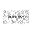 augmented reality horizontal banner ar line vector image vector image