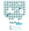 baboy invitation with stork vector image