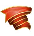 Big red ribbon vector image vector image