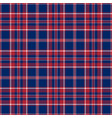 blue red and white patriotic tartan seamless vector image vector image