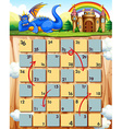 Boardgame and dragon vector image vector image