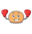 boxing mochi character cartoon style vector image vector image