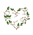 Branch of Tree in Heart Shape Wreath vector image vector image