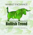 bullish market trend vector image vector image