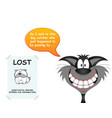cat responsible for lost dog vector image vector image