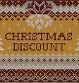 Christmas Discount Scandinavian style seamless vector image