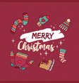 christmas holiday winter clothes cartoon card vector image vector image