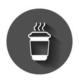 coffee tea cup icon in flat style coffee mug with vector image vector image