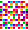 Colorful childish rainbow colored squares seamless vector image vector image
