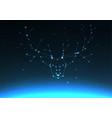 deer and elk antlers constellation vector image vector image