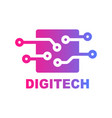 digital technology logo template design vector image