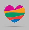 element heart love symbol of romance vector image vector image