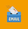 email message symbol mail envelope drops vector image