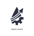 energy source icon on white background simple vector image vector image