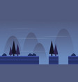 flat scenery with spruce game background vector image vector image