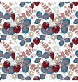 halftone seamless pattern with a strawberry vector image vector image