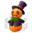 halloween cartoon scarecrow vector image