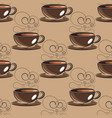 hand drawn sketch vintage coffee beans seamless vector image
