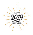 happy new year 2019 lettering template greeting vector image