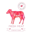 Image meat symbol veal silhouettes of animal for vector image